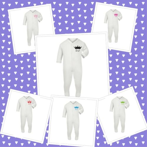 PERSONALISED Baby Grow Sleep suit  Prince Princess NEWBORN 12 MONTHS Free P/&P