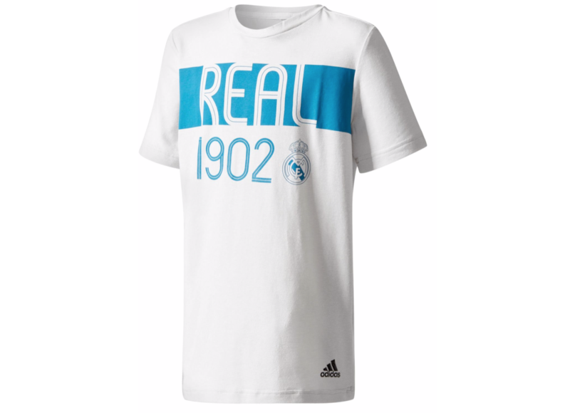Nwt Adidas Real Madrid Football Soccer Tee T Shirt Boys Girls Large Youth New