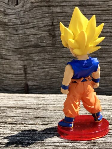 "RARE Original SSJ 3/"" SonGoku Figure Dragon Ball Z Raging Blast Namco Bandai Toei"
