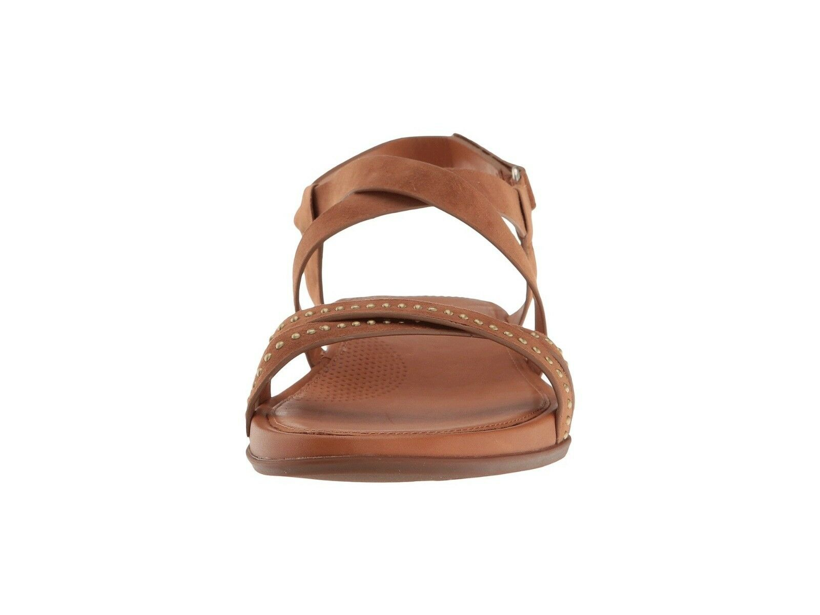 NEW FITFLOP Sz9US LUMY SANDALS CRISSCROSS W/STUDS ANKLE STRAPS SANDALS LUMY SUEDE LEATHER TAN 725b71