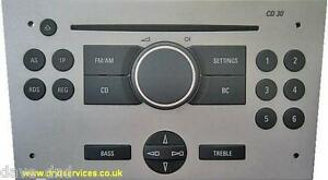 vauxhall refurbished stereo cd 30 in delivery mode opel. Black Bedroom Furniture Sets. Home Design Ideas