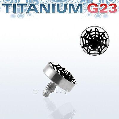Solid G23 Titanium 4mm Iron Cross Logol Internally Threaded Dermal Anchor Top