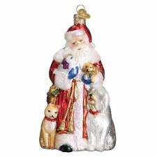 ROCKIN ROLL SANTA CLAUS OLD WORLD CHRISTMAS GLASS MUSICIAN ORNAMENT NWT 40284