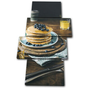 Breakfast-Healthy-Cafe-Food-Kitchen-MULTI-CANVAS-WALL-ART-Picture-Print