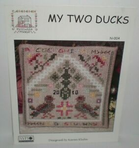 Rosewood-Manor-MY-TWO-DUCKS-Cross-Stitch-Chart-Pattern-Leaflet-N-004-Karen-Kluba