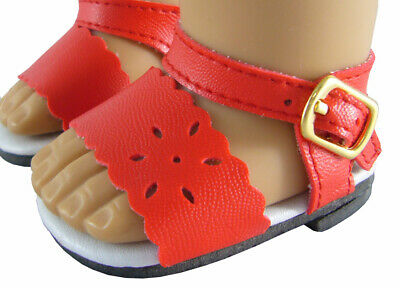 Doll Clothes Sandals Maryjane fit 18 inch American Girl® RED//ORANGE