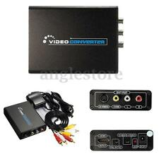 HDMI To 3RCA AV CVBS Composite S-Video R/L Audio Video Converter Adapter 1080P