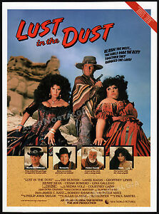 LUST-IN-THE-DUST-Original-1985-Trade-print-AD-promo-poster-DIVINE-TAB-HUNTER