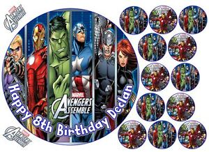 Marvel Avengers Assemble Superhero Hulk Iron Man Round