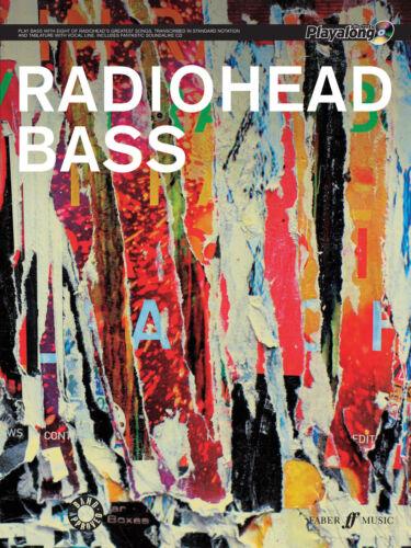 Radiohead Authentic Bass Playalong Rock POP GUITAR Tab FABER Music BOOK /& CD