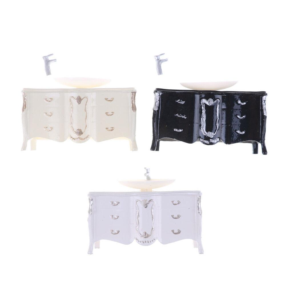 Dollhouse Mini Furniture Bathroom Cabinet Washbasin Nice Model Landscape Toy Nice Washbasin Kh 88dcbb