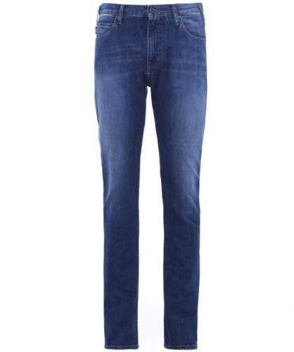 X Armani Fit Indigo W38 Slim Jeans 34l J45 Hommes Bnwt Sz rS7xr8