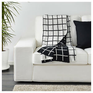 Ikea-Throw-Rug-Bedspread-Checked-Blanket-Couch-Sofa-Lounge-100-Cotton-130x170CM