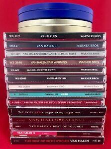 Van-Halen-18-CD-Collection-Lot-16-Albums-Live-UK-Limited-Edition-Tin-amp-more