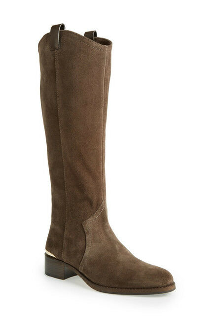 Louise et Cie Zada Gray OIive Suede Leather Tall Knee High Riding Boot 5.5 NEW