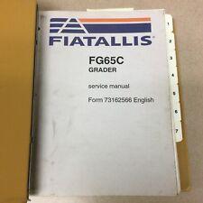 Fiat Allis Fg65c Motor Grader Service Shop Repair Manual Amp Parts Book List Guide