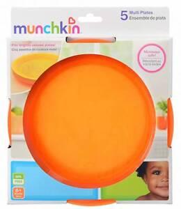 SET OF 5 Munchkin Multi Plates BPA FREE