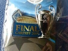 UEFA CHAMPIONS LEAGUE FINAL 2017 CARDIFF JUVENTUS REAL MADRID OFFICIAL BADGE