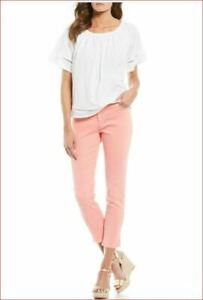 new MICHAEL KORS women jeans QS09AD994L izzy cropped skinny dusty pink 8