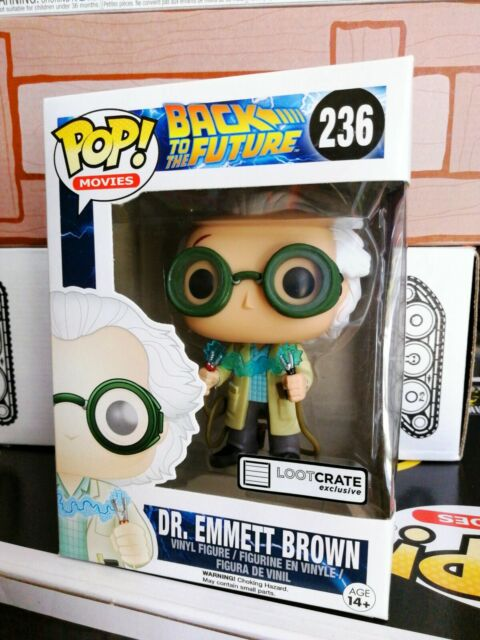 EMMETT BROWN 236 BACK TO THE FUTURE LC EXCLUSIVE FIGURE CINEMA #1 FUNKO POP DR