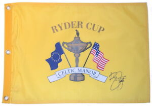 2010-RYDER-CUP-Celtic-Manor-RICKIE-FOWLER-SIGNED-Screen-Print-GOLF-FLAG