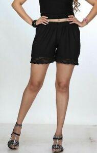 Lace-Short-Summer-Shorts-Women-039-s-Ladies-High-Waist-Girls-Black-Hot-Pants-063