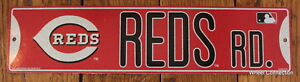 Street-Sign-Cincinnati-Reds-Rd-MLB-Lic-Baseball-full-colorful-picture-Go-Reds
