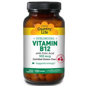 Vitamin B-12 with Folic Acid Sublingual 100 Loz 500 MCG