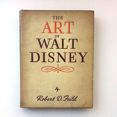 Vintage The Art of Walt Disney Robert D. Field 1944 Collins Hardcover Book Rare