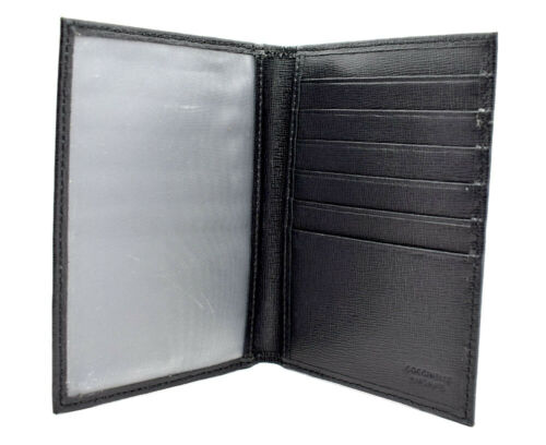 Coccinelle Hand Made Leather Passport Cover Black