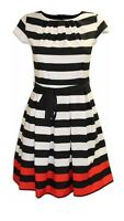 BNWT Dorothy Perkins Striped Mono Cotton 50s Style Rockabilly Dress Sizes 8 - 22