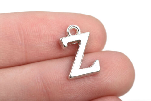 chs2580 8 Letter Z Charms Silver Plated monogram 15mm