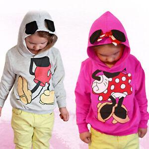 Maedchen-Jungen-Kinder-Mickey-Kapuzen-Pullover-Sweatshirt-Hoodie-Pulli-Mantel-98