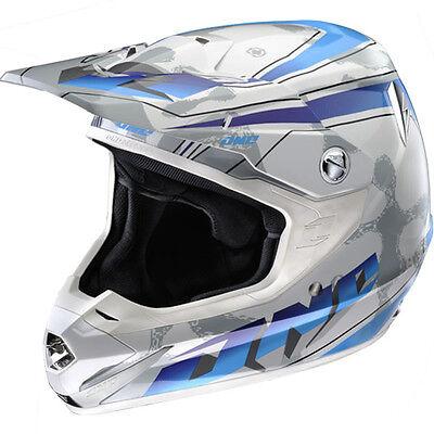 ONE INDUSTRIES ATOM MX MOTOCROSS HELMET NAPALM BLUE WHITE enduro bike new