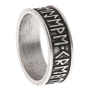 Norse-Vikings-24-Runes-Ring-Norde-Vigisr-Men-039-s-Ring-Large-Size-Men-Band