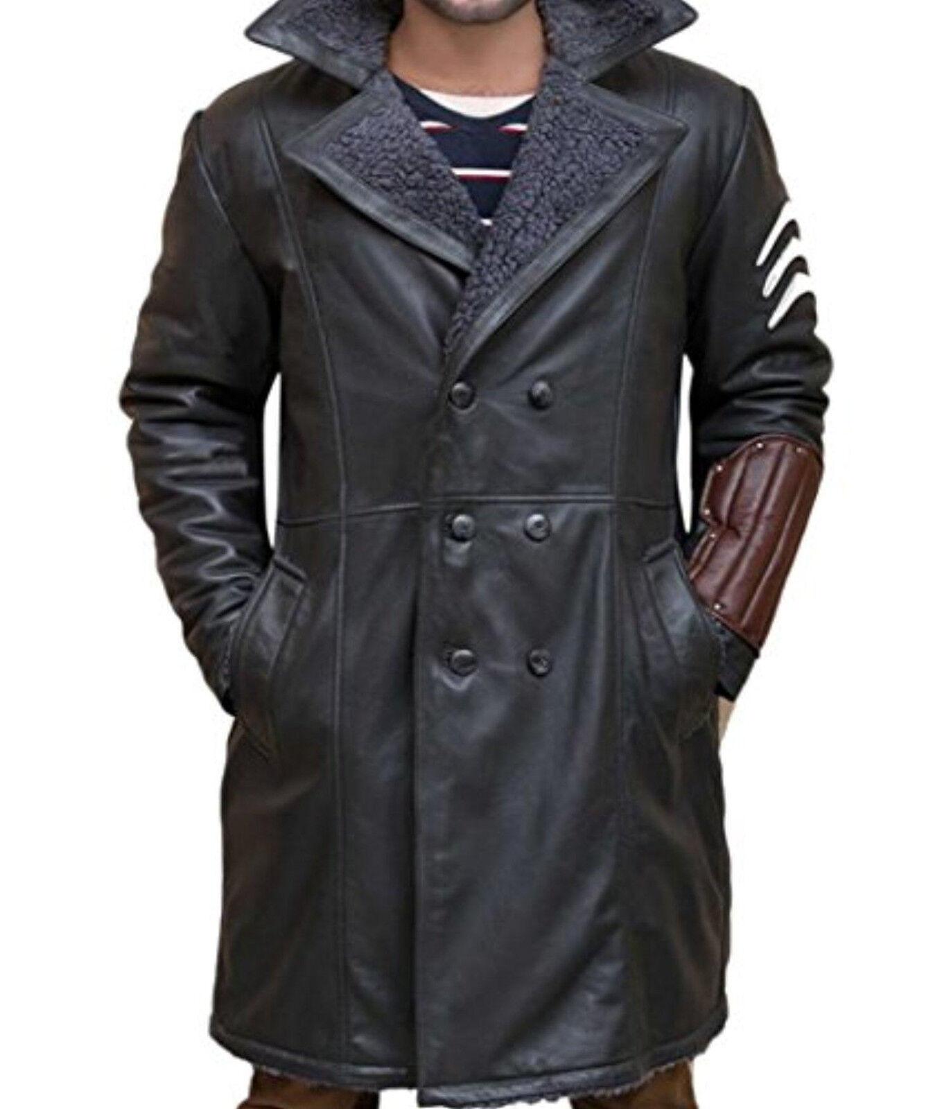 Suicide Squad Jai Courtney Captain Boomerang Real Leder Coat