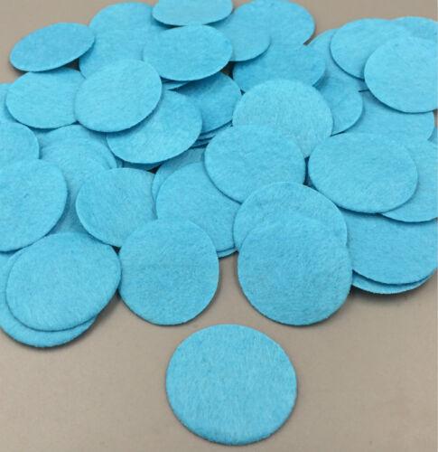 100PCS Beautiful Blue Die Cut Felt Circle Appliques Cardmaking decoration 35mm