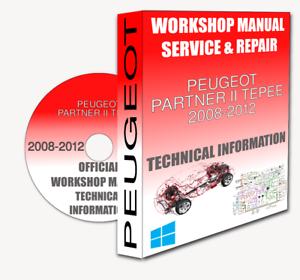 Service Workshop Manual /& Repair Manual PEUGEOT PARTNER II TEPEE 2008-2012