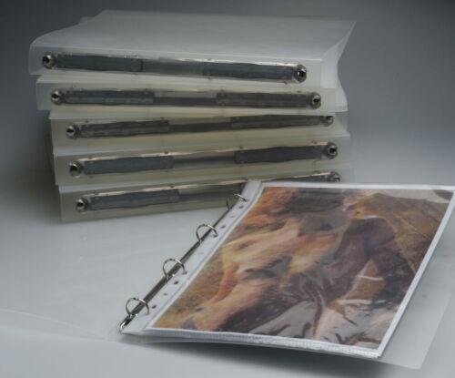Hartmann IBA Ringbuch Ordner Din A 4 10 Stk 30 mm transluzente PP Folie NEU