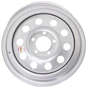 Trailer-Wheel-Rim-15x5-Silver-Modular-Steel-5-Hole-4-5-in-Circle-15-x-5-in