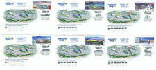 2013. Russia. Olympic Games. Sochi-2014. Olympic Sports Venues. 6 FDCs