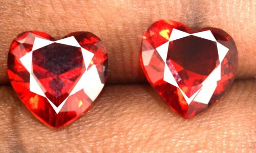 Heart Shape 5.50 Ct Red Spinel Gemstone Pair Natural Untreated Certified CE20