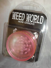 Weed World ( NEON PINK )  With storage compartment, Herb Grinder