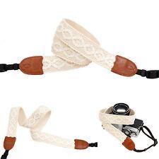 White Flower lace style Fashion Camera Neck Shoulder Strap f. Film SLR DSLR Cute
