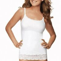 Maidenform Flexees Lace Trim Firm Shaper Tank Cami Adj Straps Meant To Be Seen