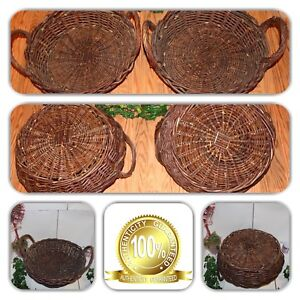 Image Is Loading COUTURE HOME DECOR 2 ROUND WICKER WOVEN LG