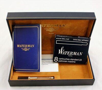 Vintage Waterman Schwarz Black Fountain Pen Ink Refills x 8