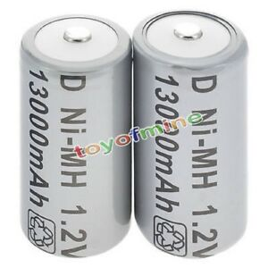 1/2 Pièces Taille D Type D 13000mah 1.2v Ni-mh Pile Rechargeable Gris S250 Nwsfaekp-07234833-440841780