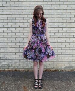 83803a1ba1e Image is loading Adrianna-Papell-ModCloth-womens-vintage-style-floral-dress-