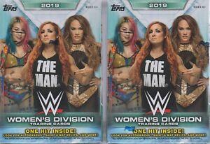 2-2019-Topps-WWE-WOMEN-039-S-DIVISION-Wrestling-Trading-Cards-71c-BLASTER-Box-LOT